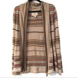 [BILLABONG] Cotton open front thin knit cardigan L